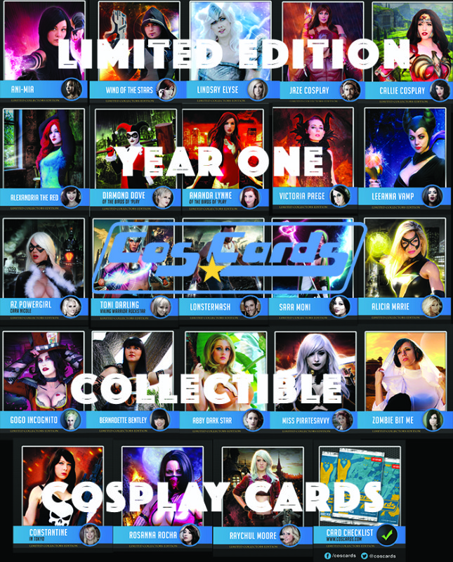 Cosplayer Trading Cards Collectible Set!