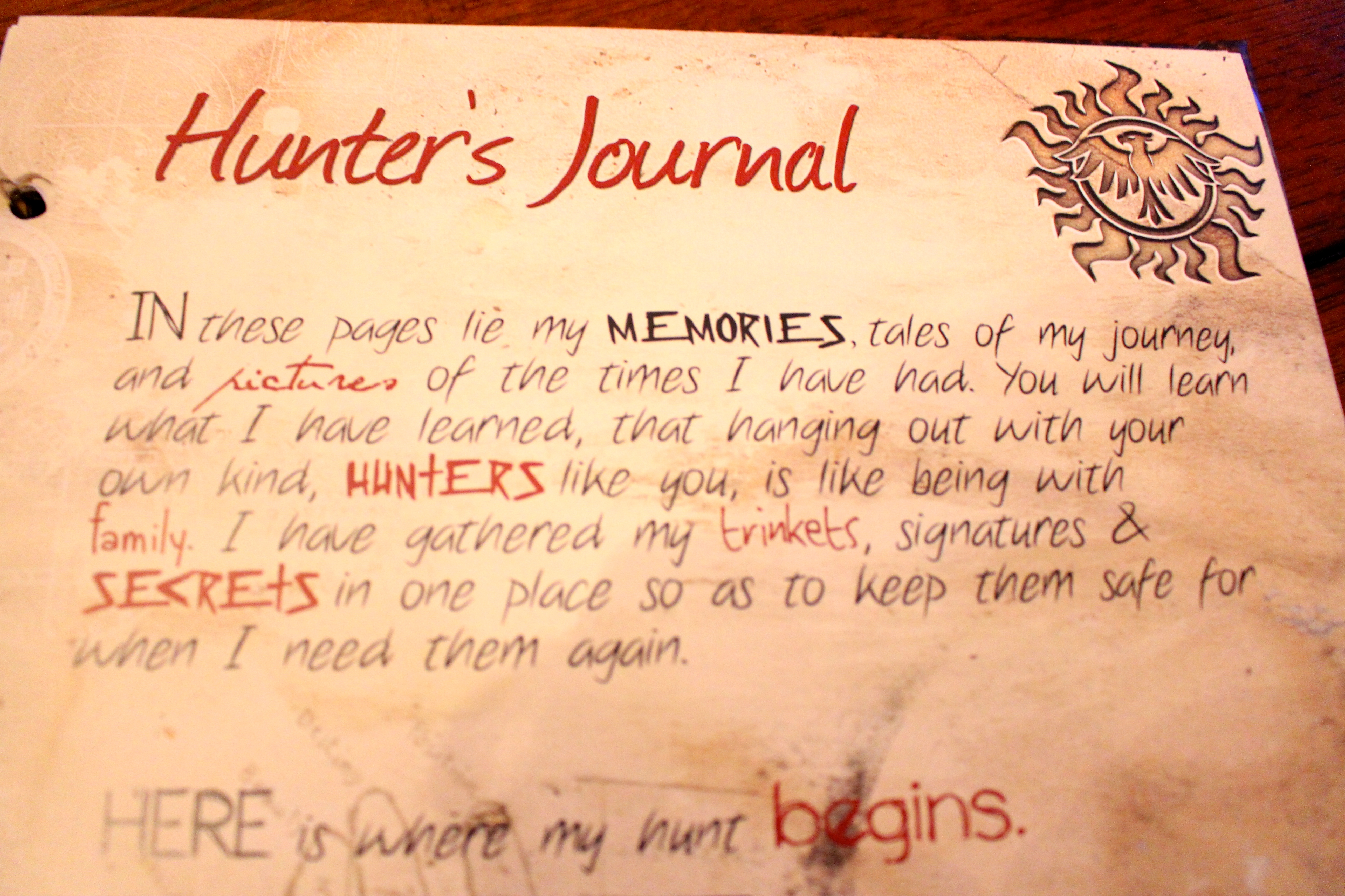 Megarainbowdash2000 S Journal: Inside The Hunter's Journal » Con*Quest Journals