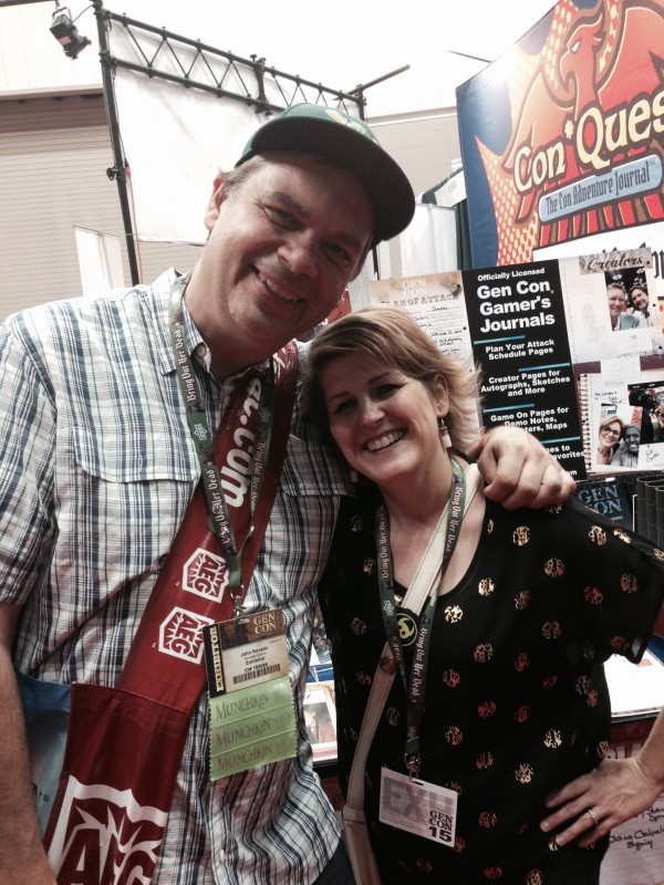 Famed Munchkin Illustrator John Kovalic stopped by our booth!