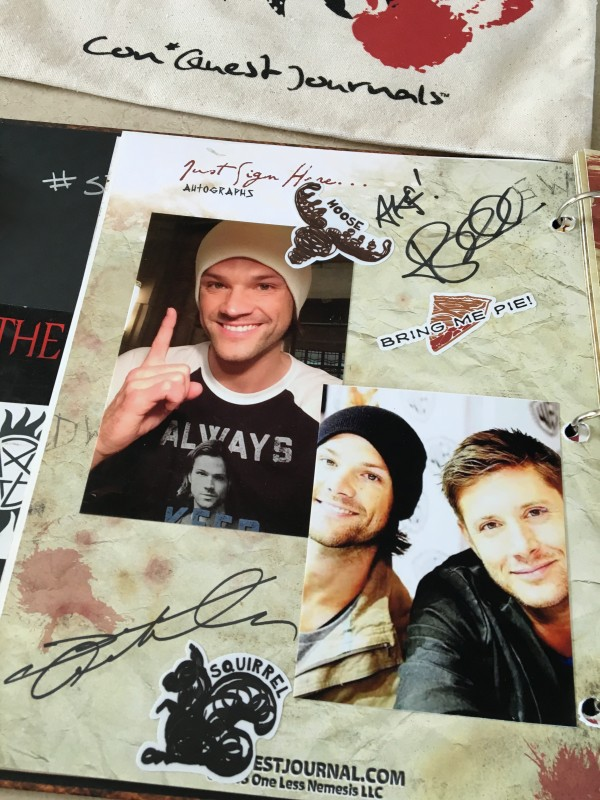 I babbled like an idiot to Jared and barely spoke to Jensen. #fail