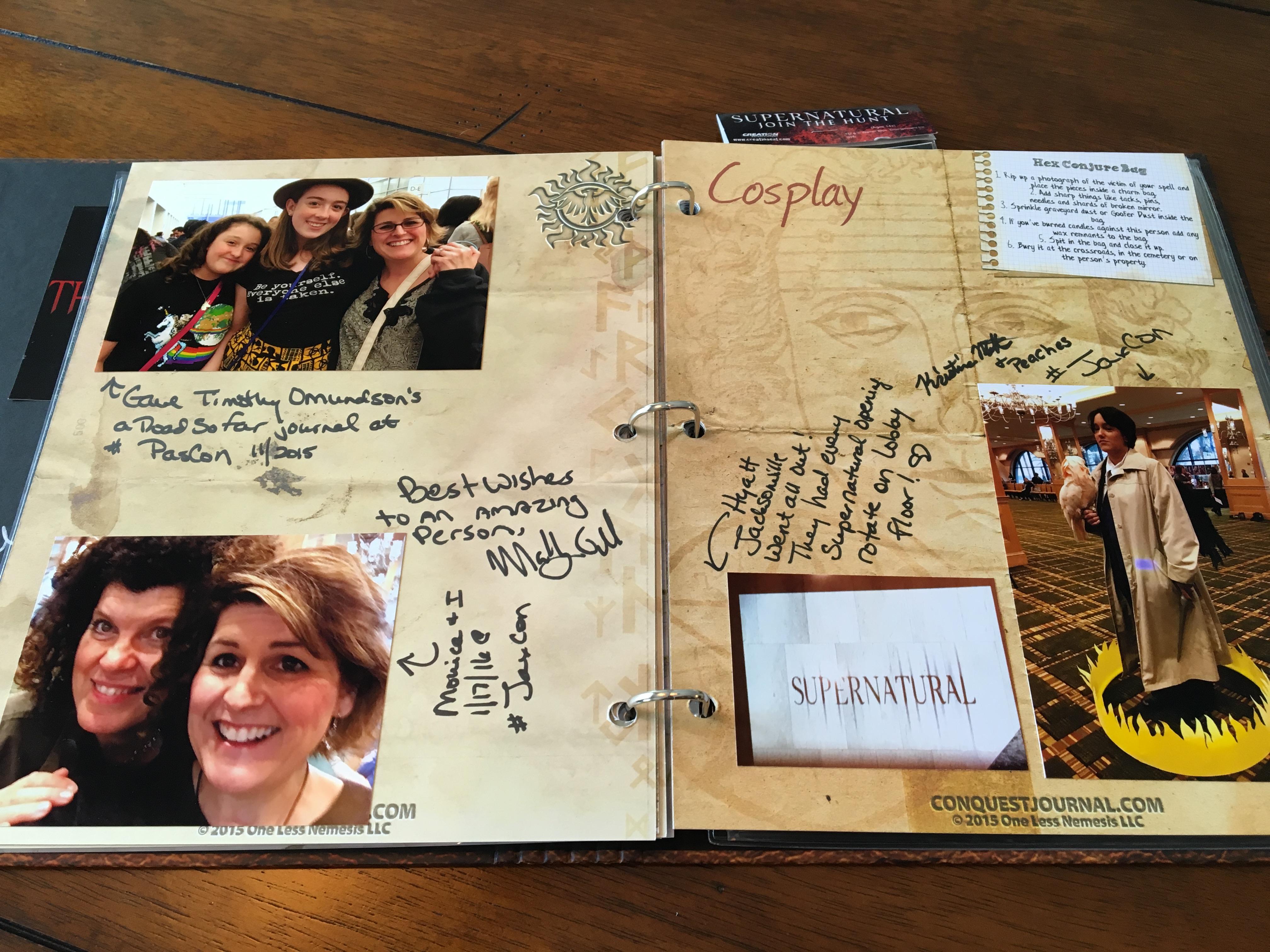 Supernatural Scrapbook Conquest Journals
