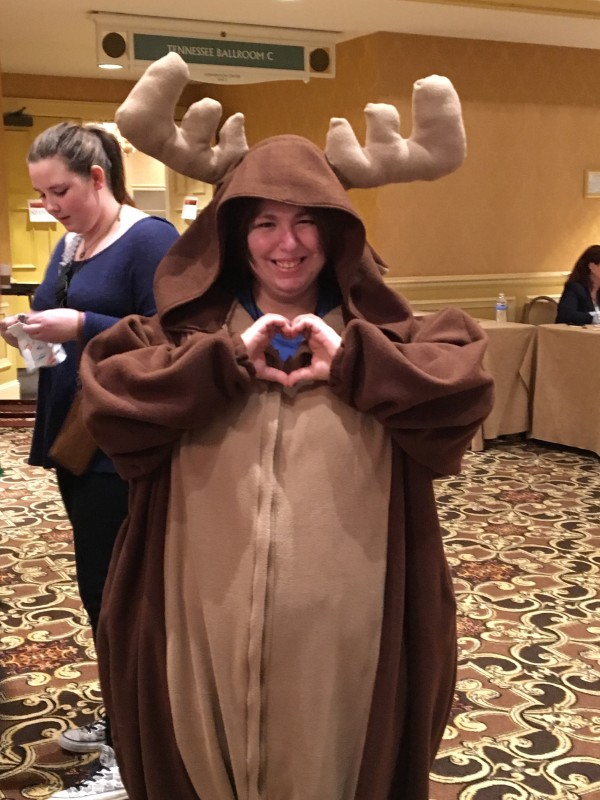 She made this Moose costume by hand. Adorable!