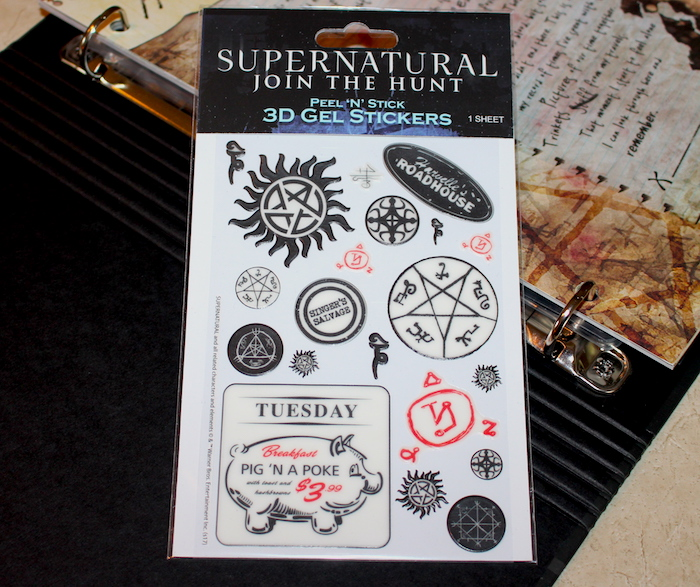 Supernatural Symbols Gel Sticker Sheet Conquest Journals